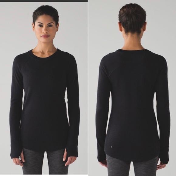 Lululemon Sit in Lotus Sweater size 8 w/tag wool
